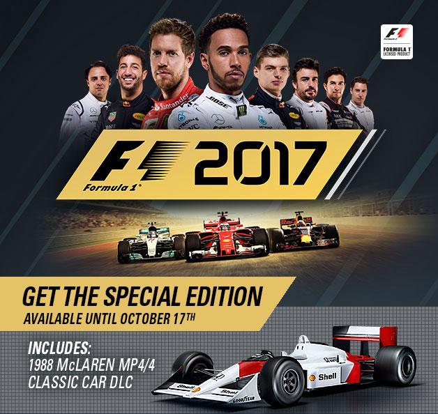 Бонус предзаказа F1 2017 DLC
