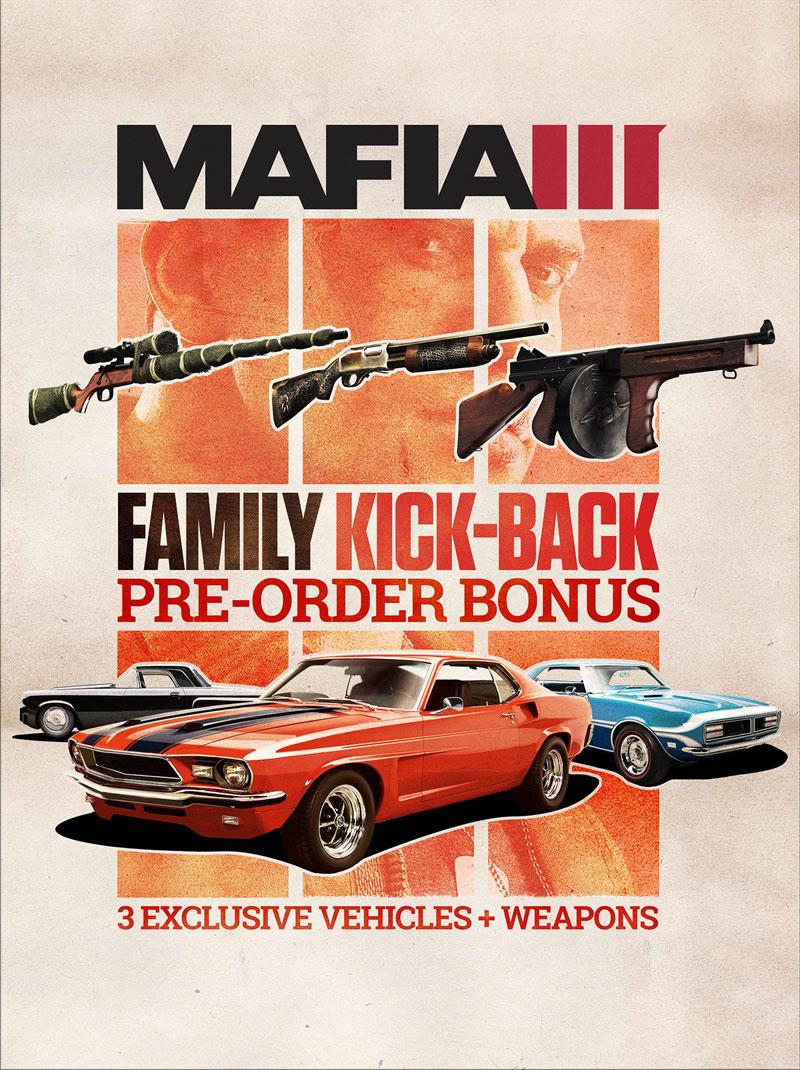 Бонусы предзаказа Mafia III